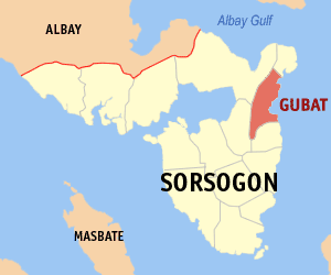 English: Map of Sorsogon showing the location ...