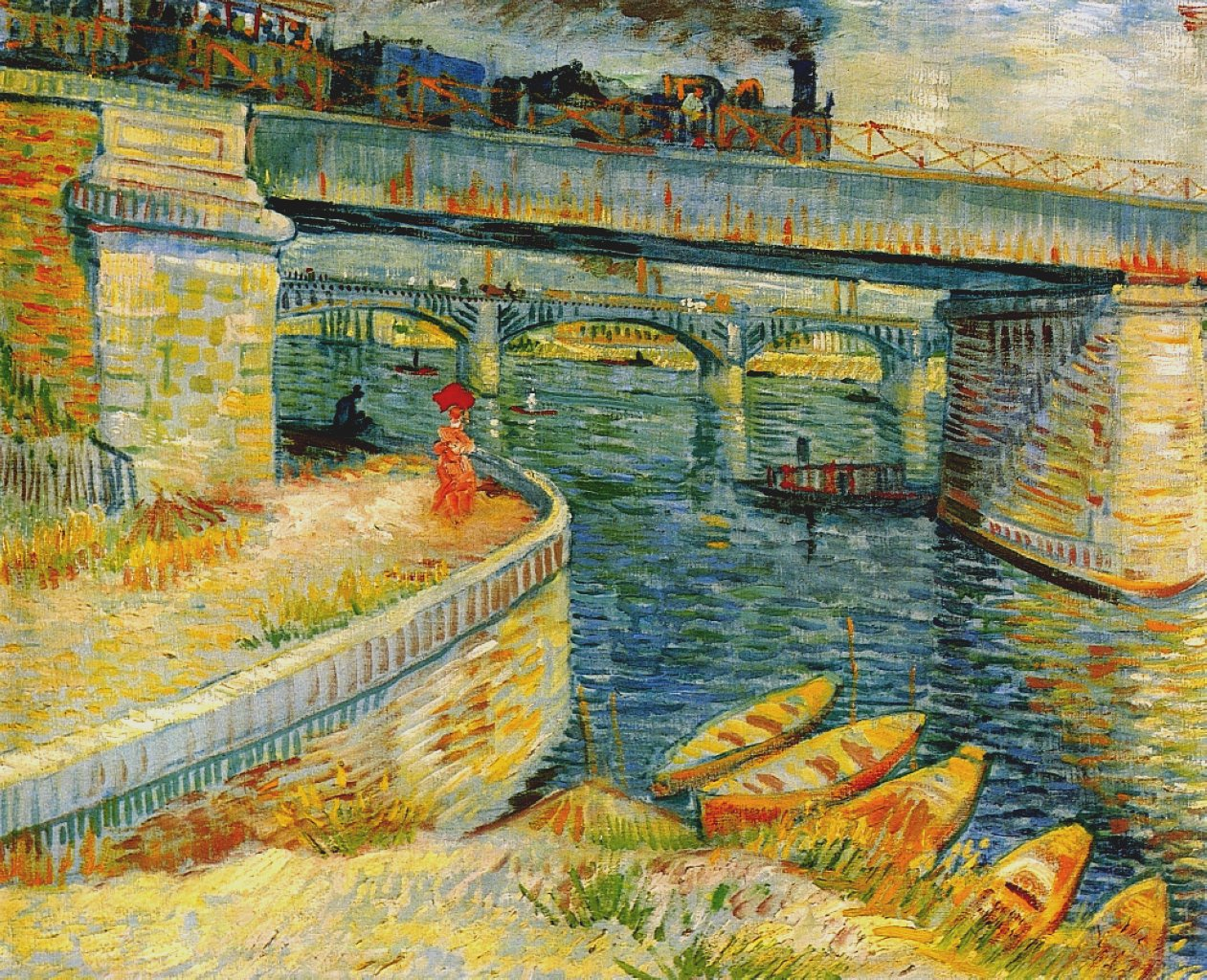 File:Vincent van Gogh - Bridges across the Seine at Asnieres.jpg