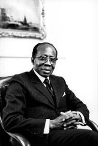 Léopold Sédar Senghor, en 1987.