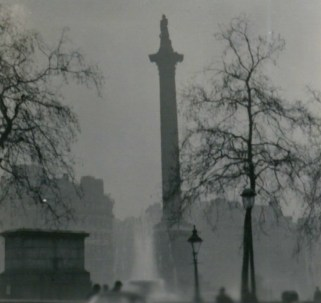 Nelson's Column during the Great Smog of 1952