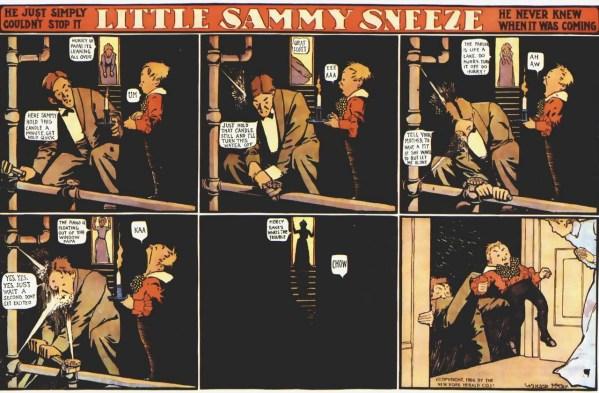 Tira original de Little Sammy Sneeze.