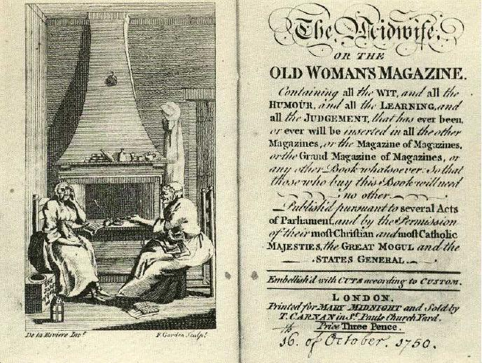 English: Title page to Christopher Smart's mag...