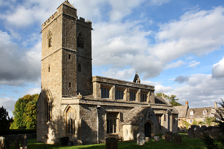 St Leonard's parish church, Bledington, Gloucestershire.