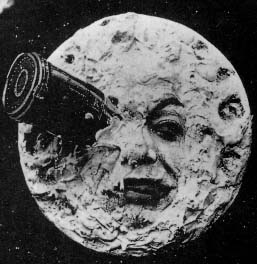 Screenshot from A Trip to the Moon (1902) is in the public domain