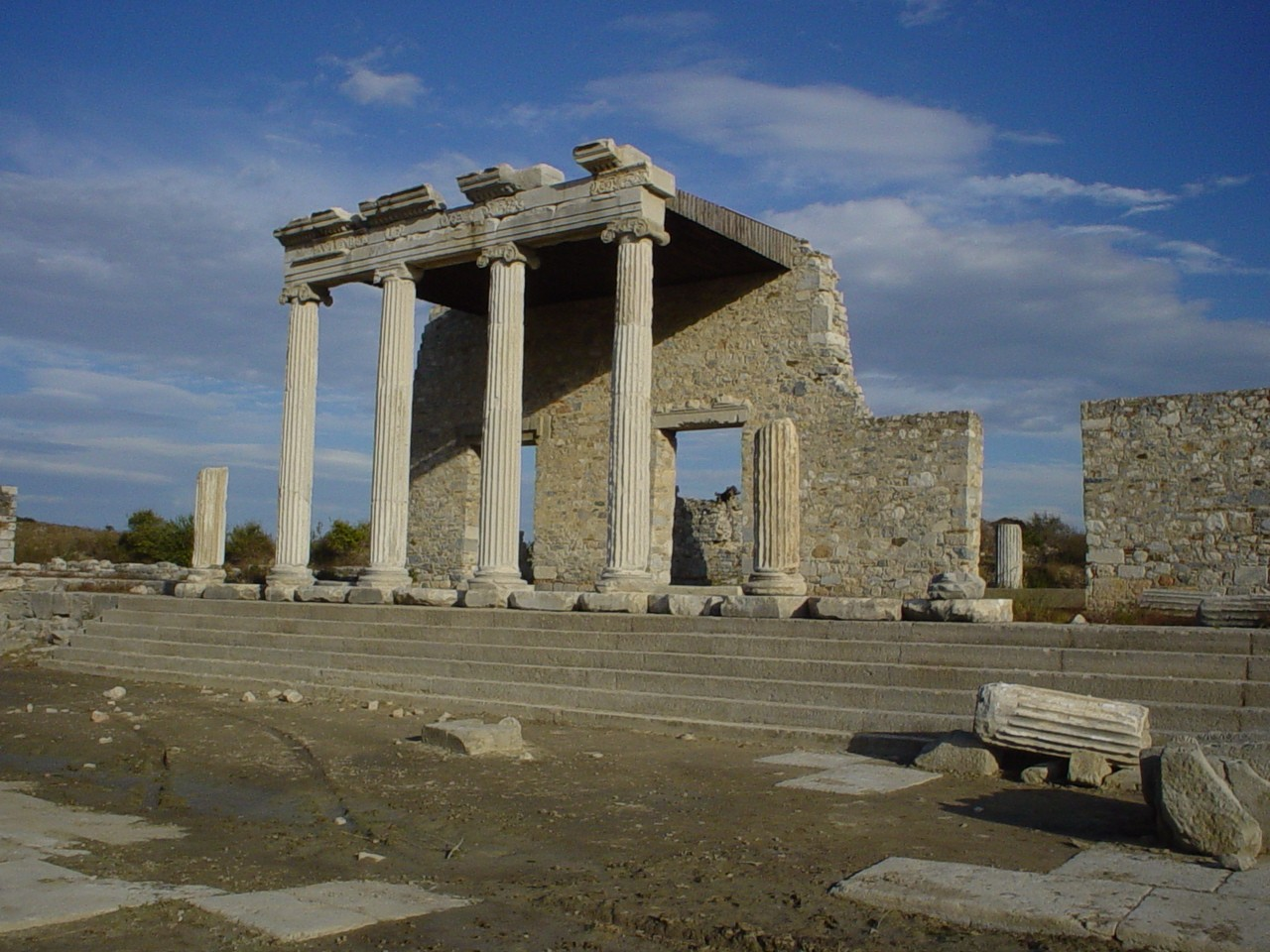 The Ionic Stoa on the Sacred Way in Miletus.