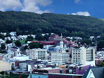 View of Pottsville, Pennsylvania.