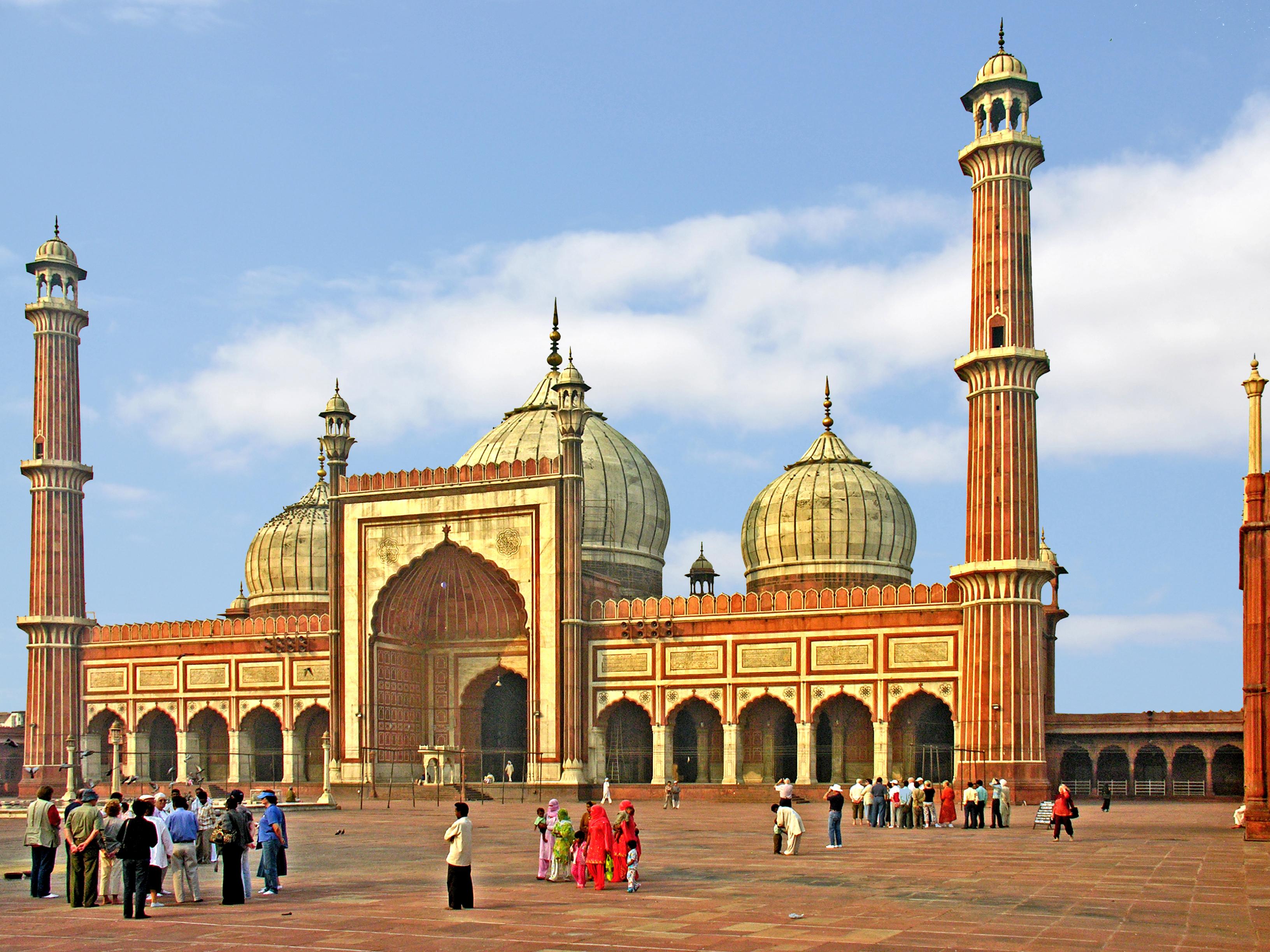 Jama Masjid, Delhi built by Shah Jahan, 1656.