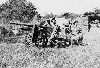 Artillerie de campagne Ordnance BL 2.75 pouces (canon ou obusier ?) - Wikicommons