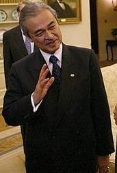 Abdullah Badawi, Prime Minister of Malaysia, a...