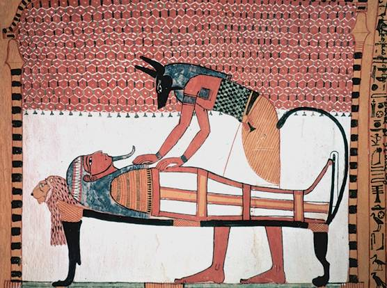Picture of wall painting from the tomb of Senn...
