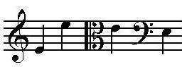 Music note E