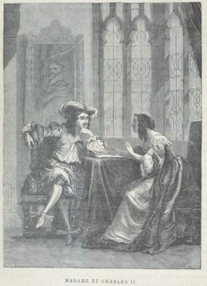 Henriette d'Angleterre negociant avec son frère Charles II en 1670.jpg