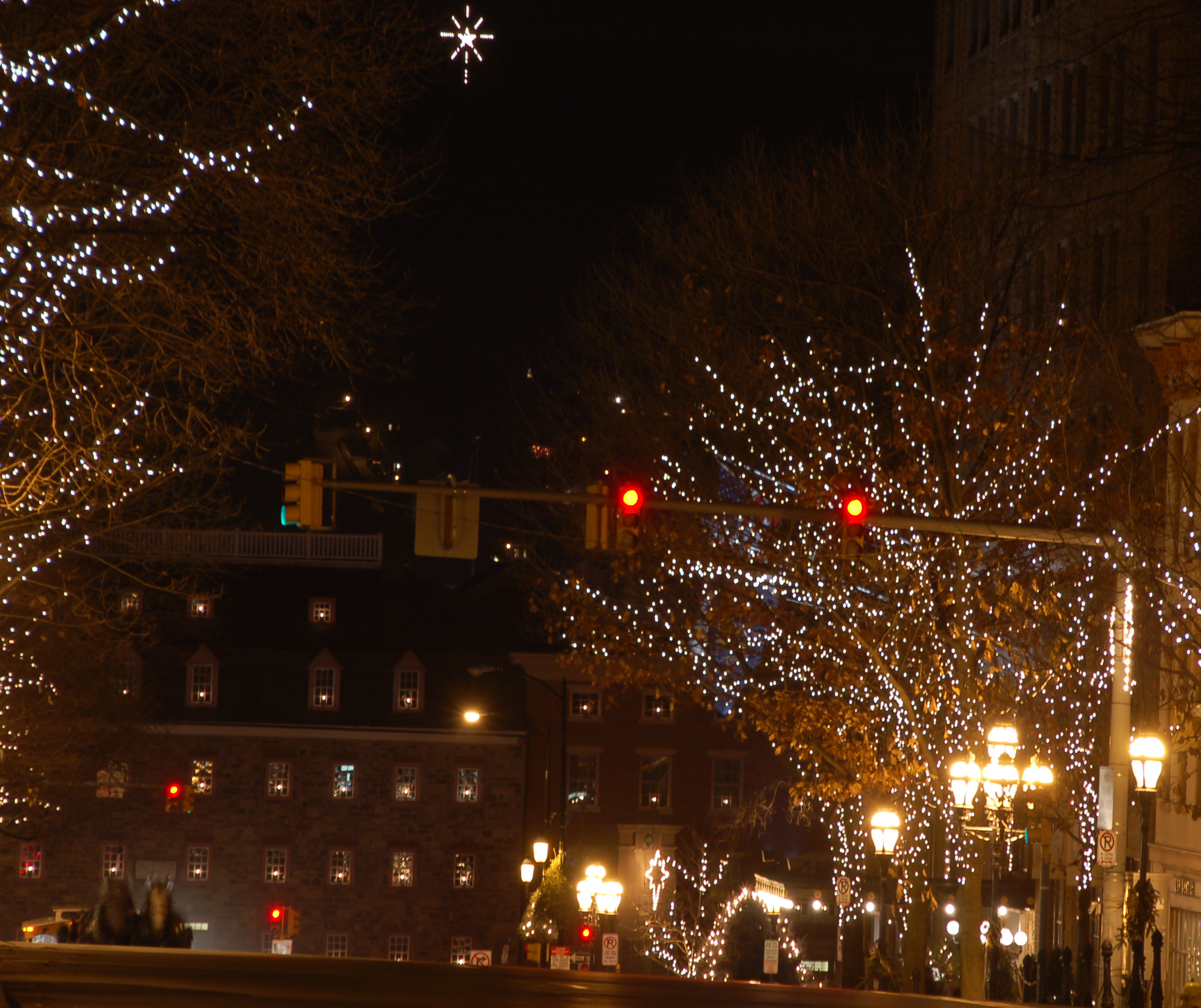 The star of Bethlehem viewed from Main Street ...