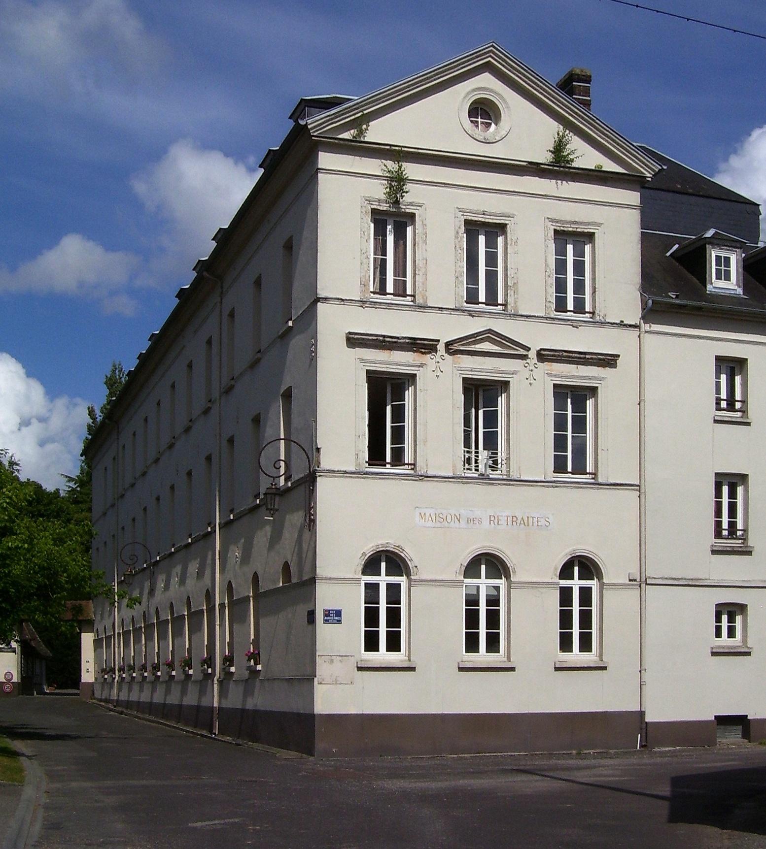 Front des ehemaligen Hospizs, eigenes Foto (auf Commons), Lizenz:public domain/gemeinfrei