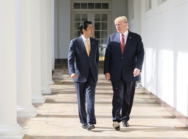 Shinzo Abe Donald Trump White House