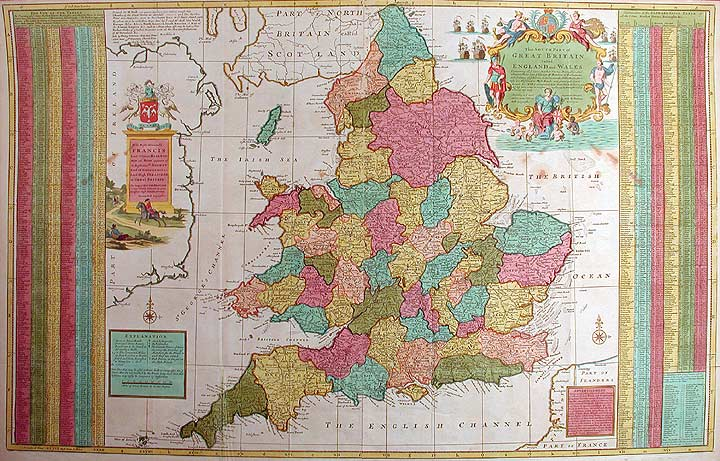 Herman Moll: The South Part of Great Britain called England and Wales,