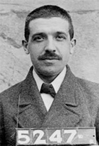 1920 police mugshot of Charles Ponzi