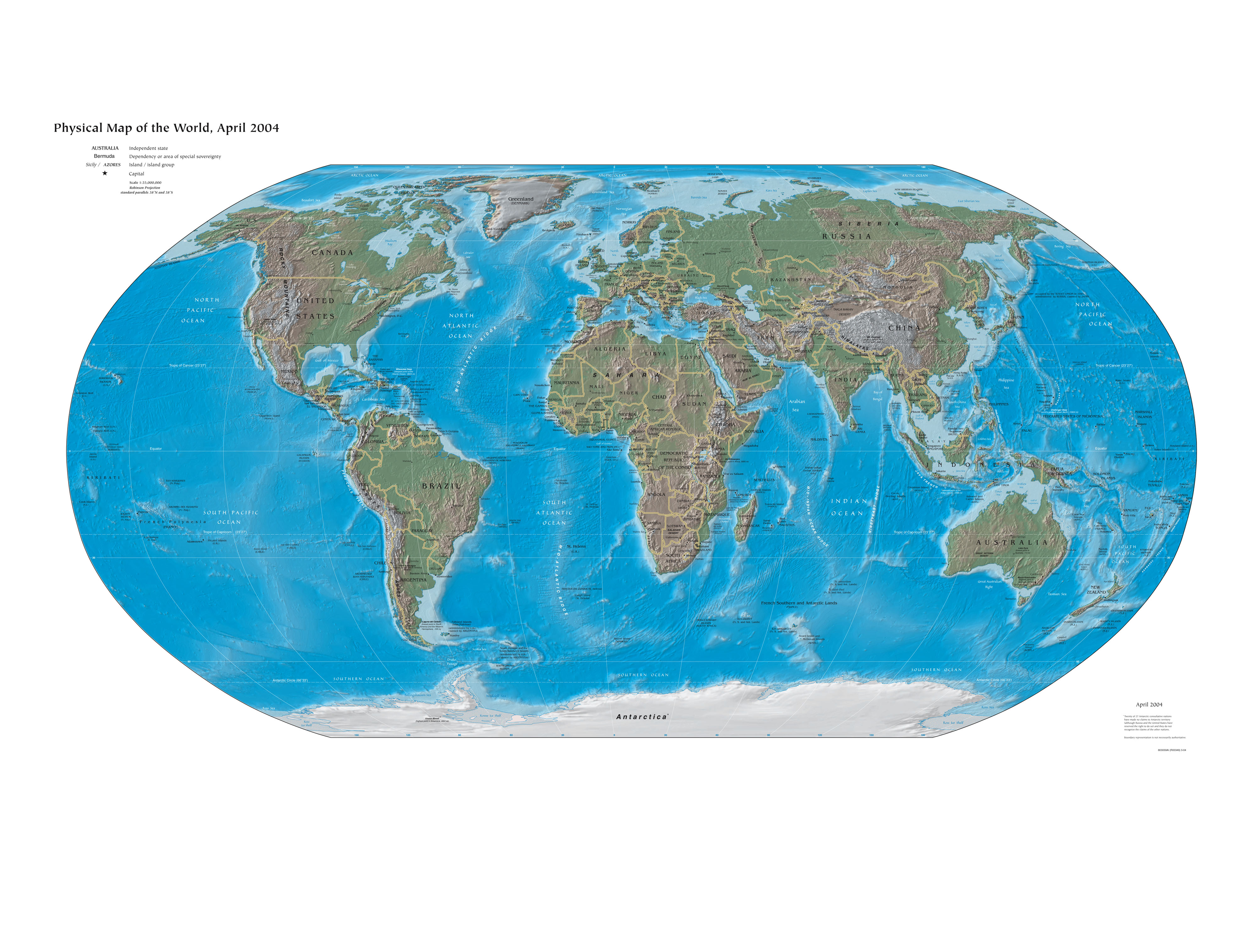 File Physical Political World Map png