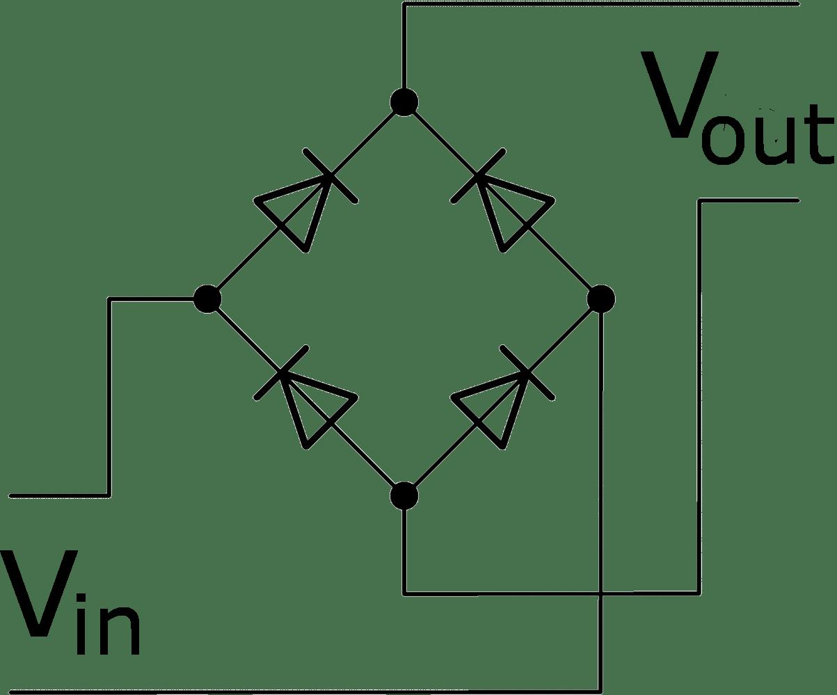 2 Diode Bridge Rectifier Schematic
