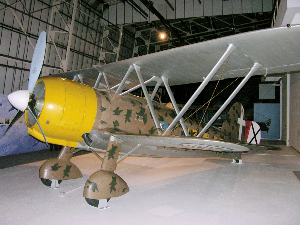 Fiat Cr. 42 at RAF Museum Hendon - from Wikimedia Commons
