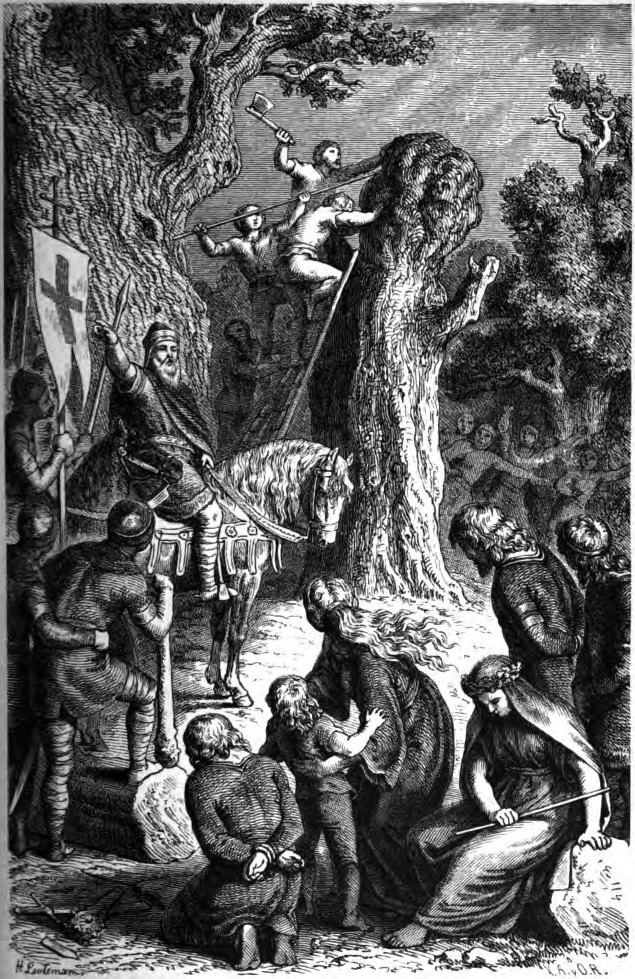 1882 illustration of the destruction of the Irminsul