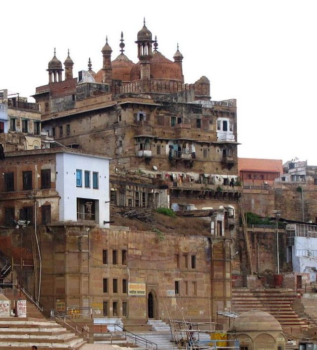 A mosque besides the Ganges