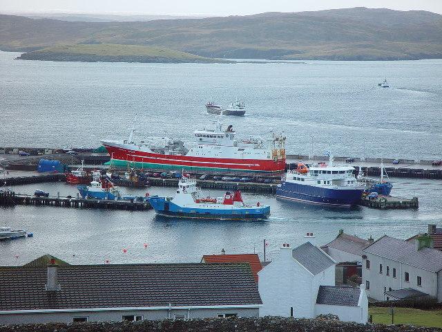 Hamnen i Symbister, Whalsay