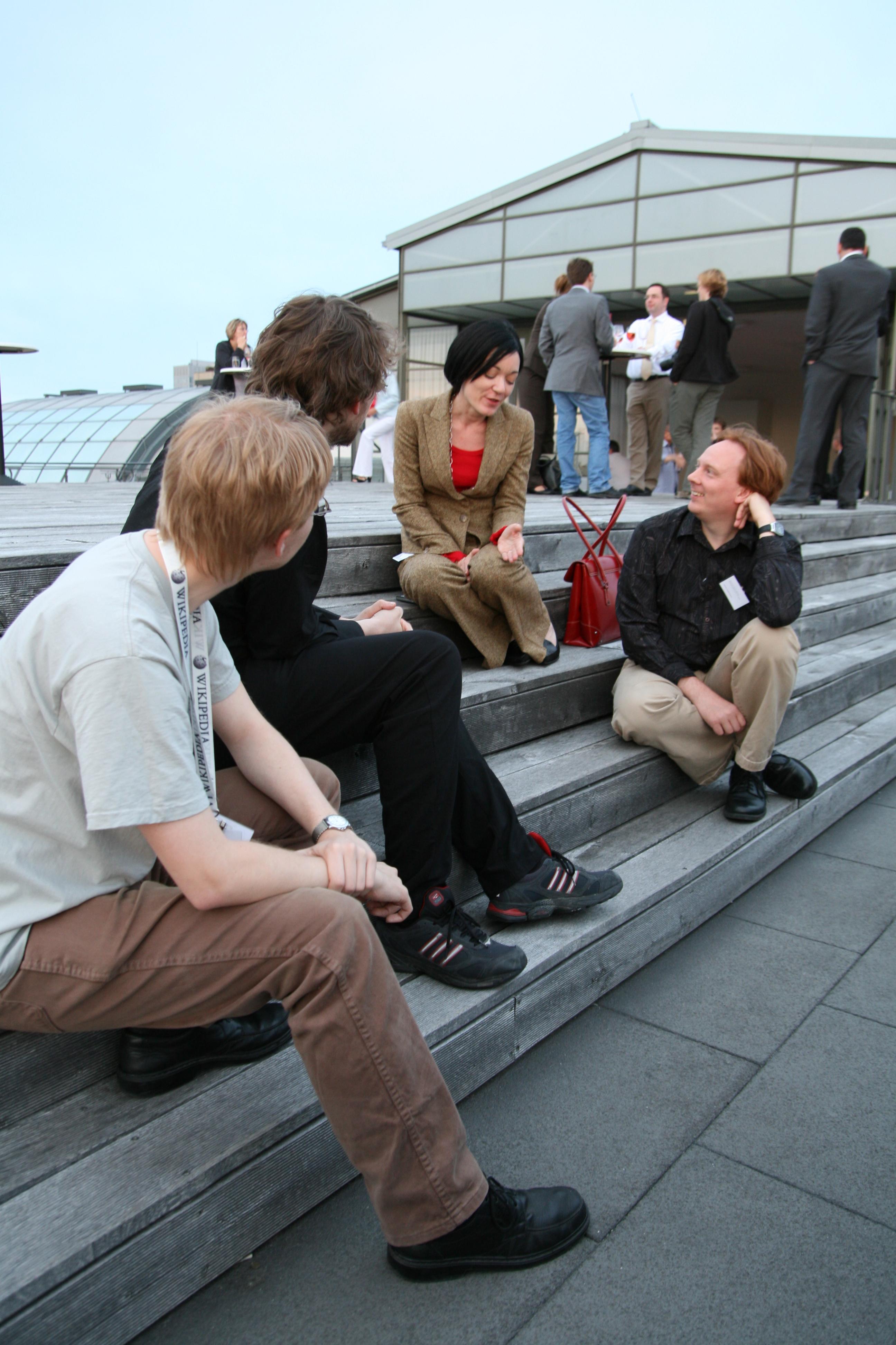 Jag och Sue Gardner (mfl) på Wikipedia Academy 2008