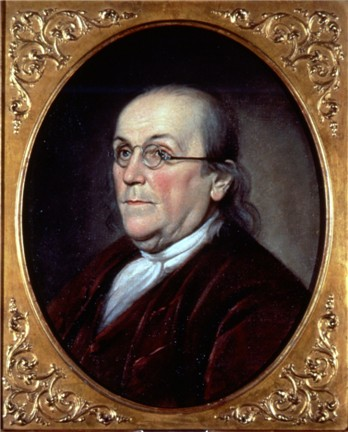 Portrait Benjamin Franklin by Charles Willson Peale, 1785