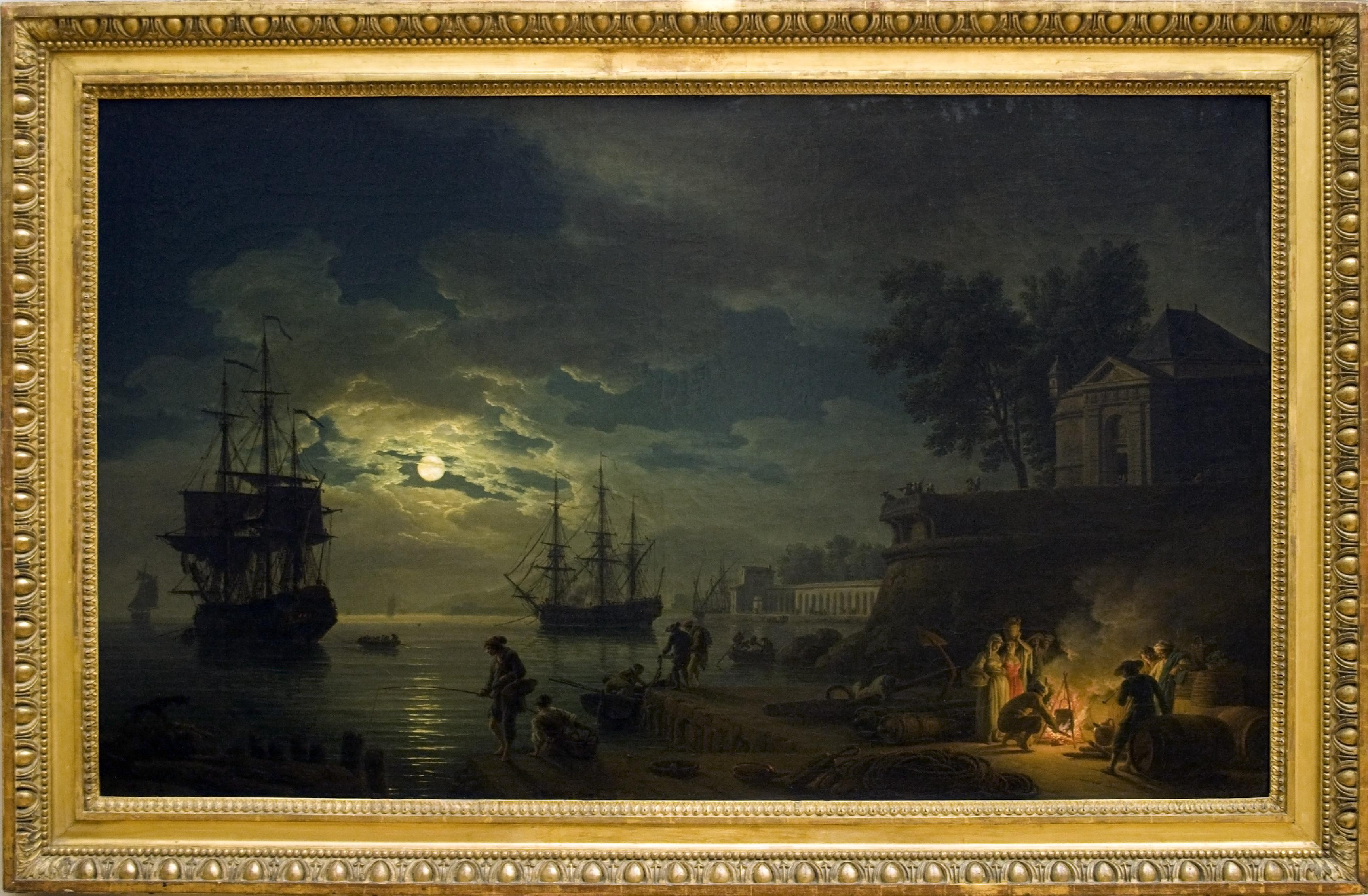 FileLa Nuit Un Port De Mer Au Clair De Lunejpg