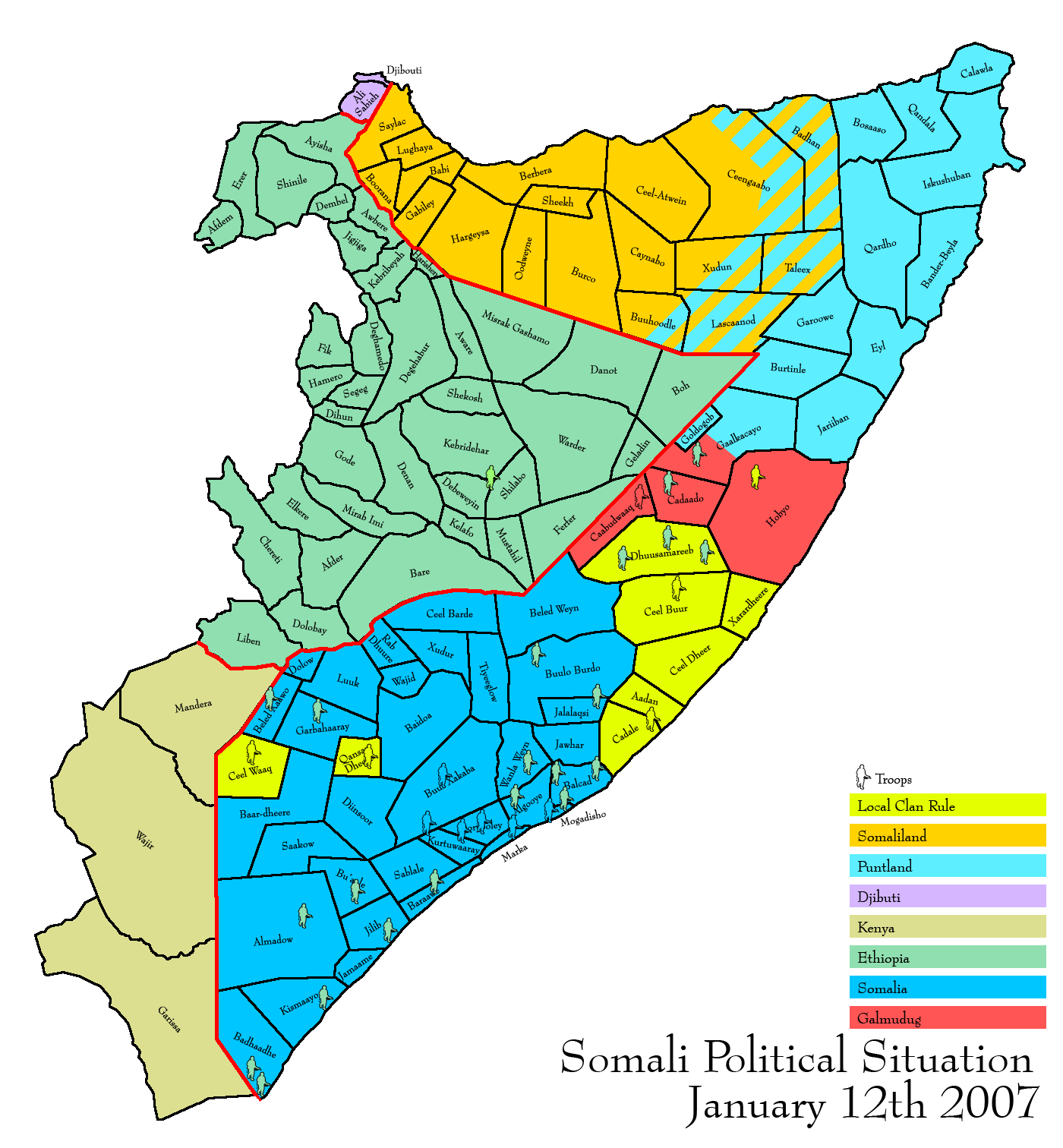 Somali residents in Ethiopia, Kenya and Djibouti