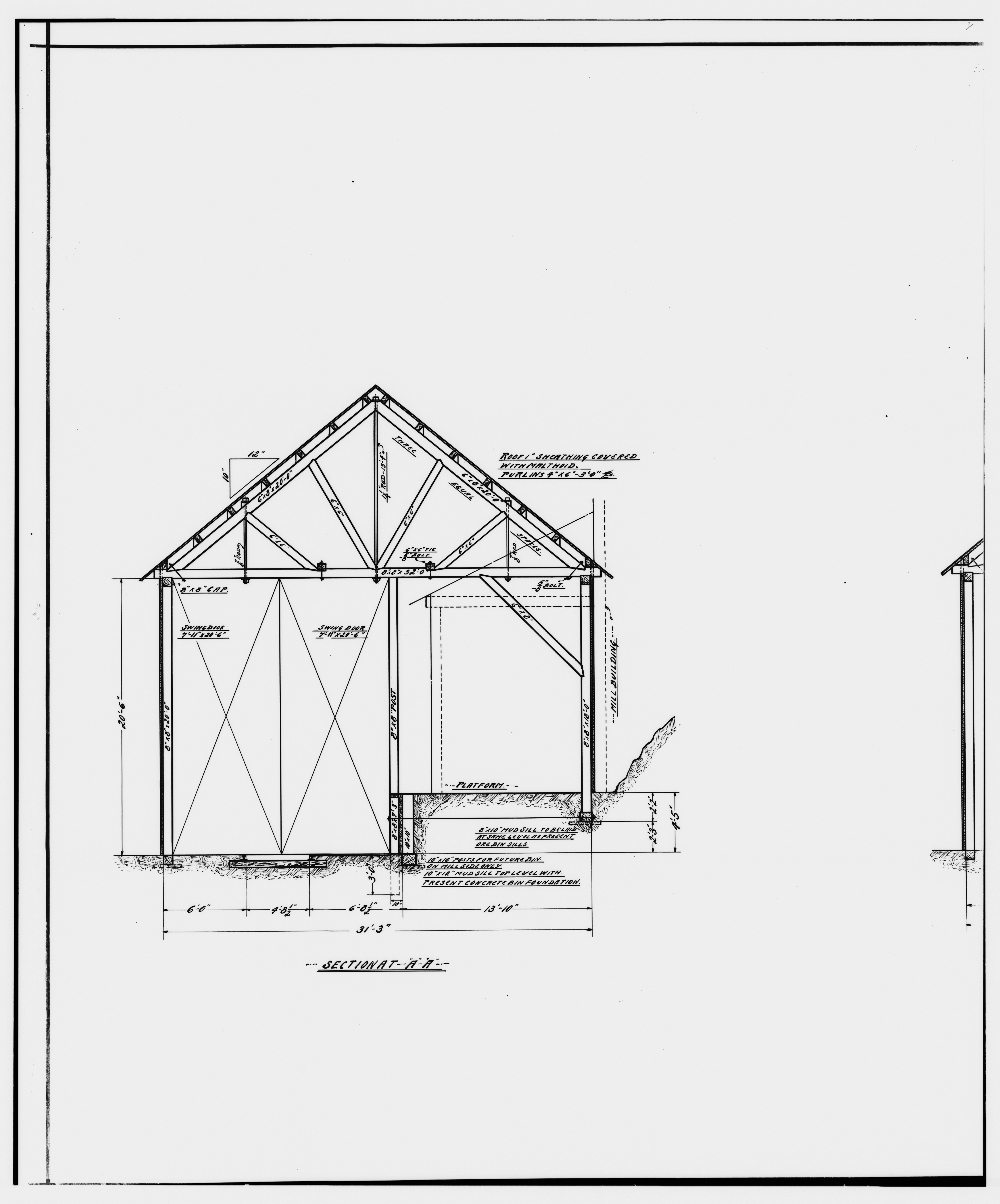 File 42 Photocopy Of Drawing Of Track Scale And Sacking