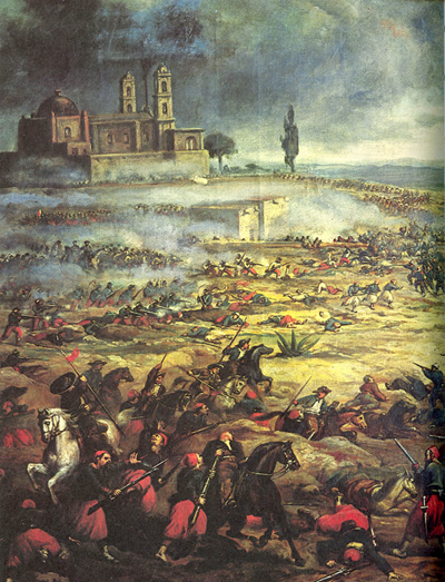 Battle of Puebla, Wikimedia (artist?)