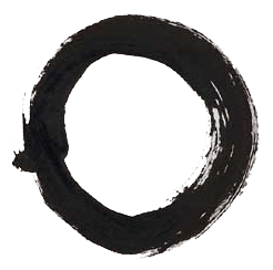 English: The enso, a symbol of Zen Buddhism