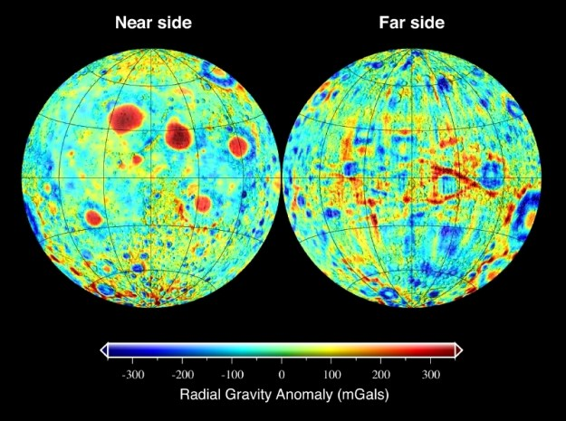 Variações do campo gravitacional lunar