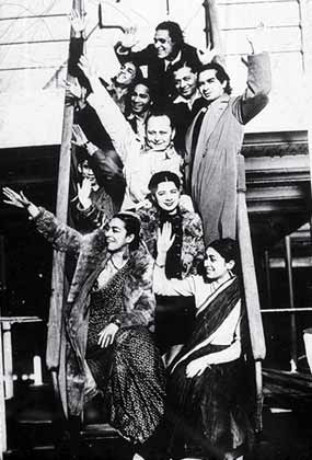 The Uday Shankar Ballet Troupe, ca (1935-37). ...