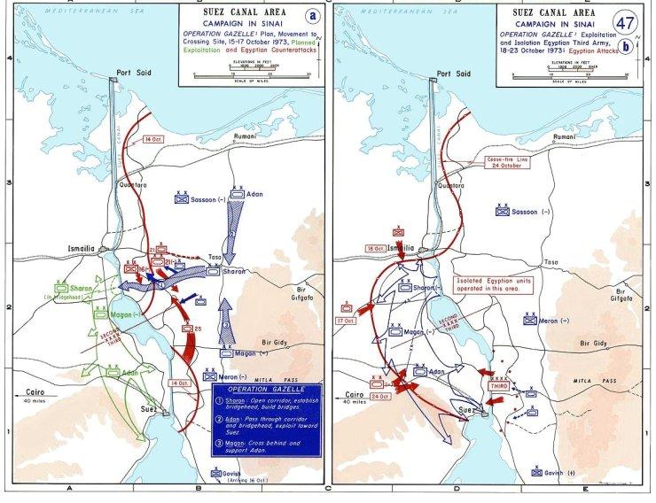 1973_sinai_war_maps2 Сирия и Египет напали на Израиль. Война Судного дня