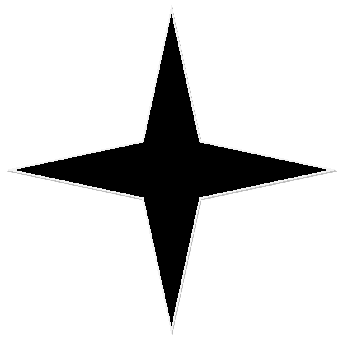 File Black 4 Point Star