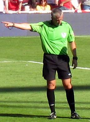 English football (soccer) referee Chris Foy