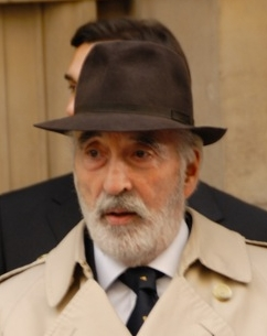 Christopher Lee filming in Westminster for a f...