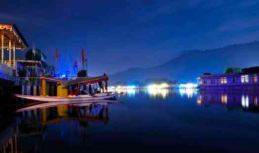Image result for dal lake at night
