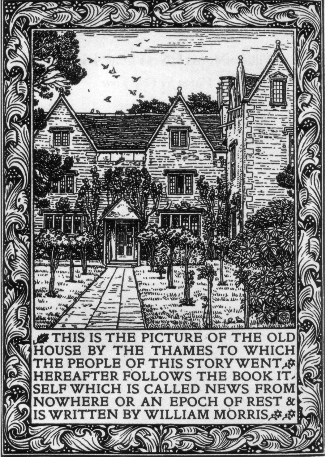 News from Nowhere, Kelmscott edition frontispiece