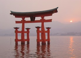 The Torii of Itsukushima Shrine.