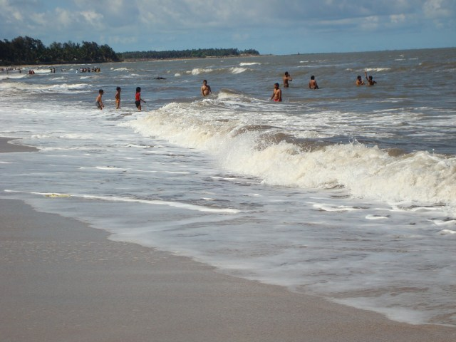 People enjoying on Kihim Beach.JPG