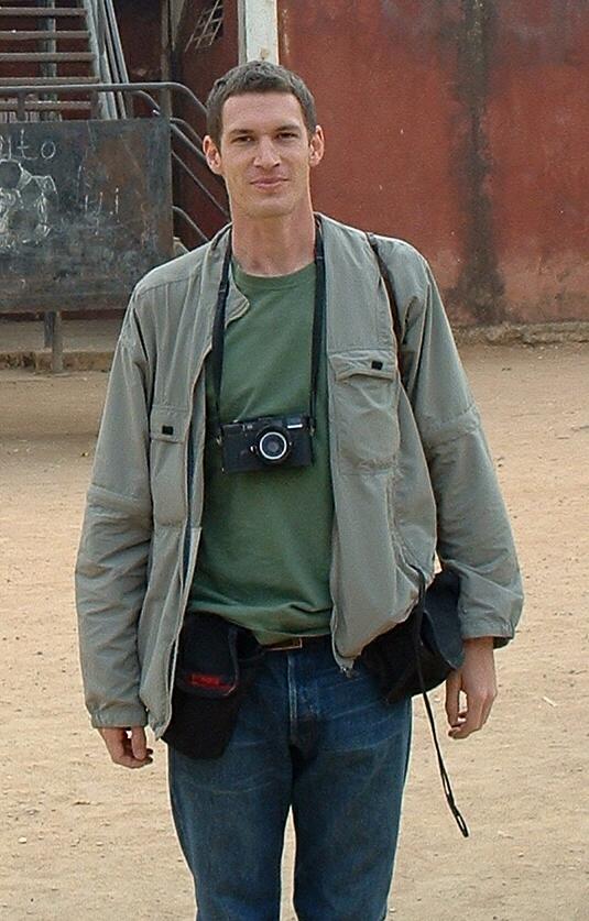English: Tim Hetherington at a photo session i...