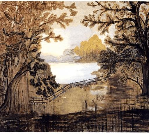 1918 fireboard byGrandmaMoses
