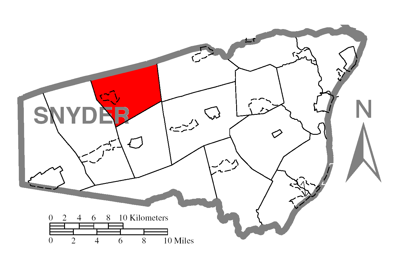 File Map Of Snyder County Pennsylvania Highlighting Adams Township