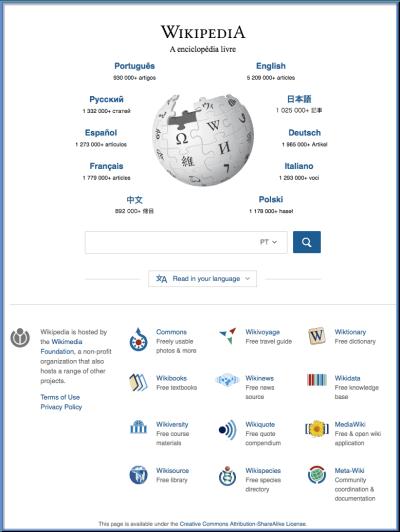 Wikipedia.org updated page layout - MediaWiki