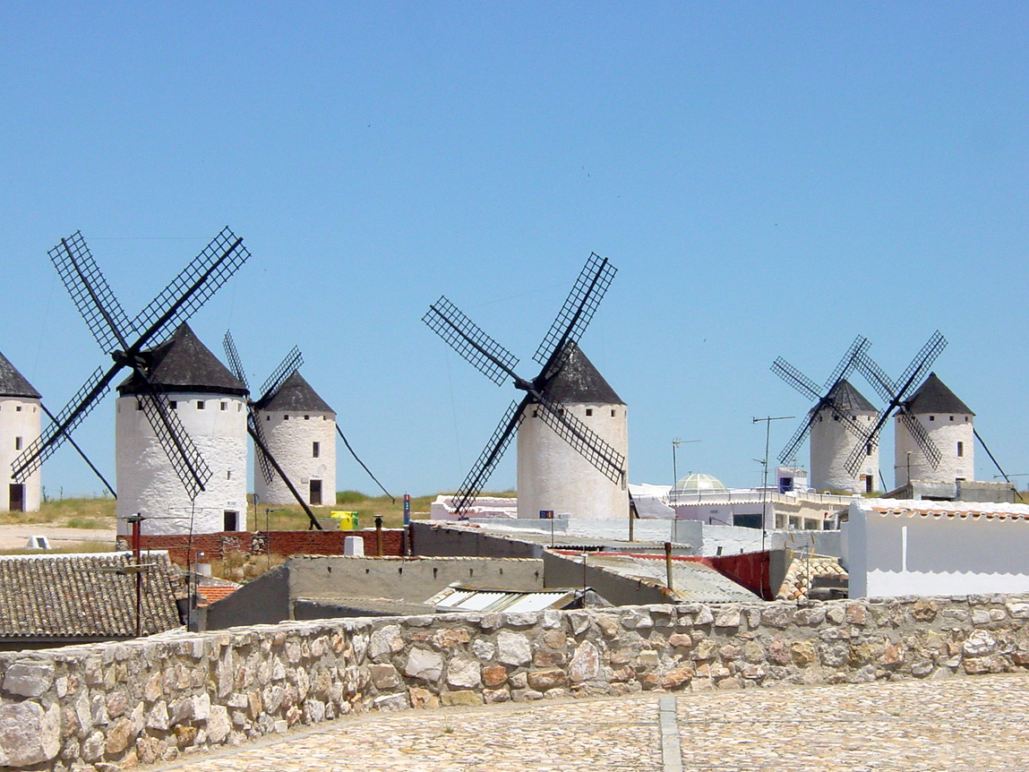 Spanish Windmills in La Mancha