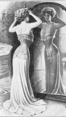 Dame devant miroir